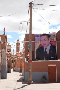 König Mohammed VI. ist in Marokko omnipräsent - Copyright: Annie Green