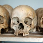 Like these skulls in Naryabuye, reminders of the 1994 genocide are still to be found all over Rwanda - Copyright: Genvessel