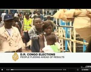 Congolese fleeing to neighboring country