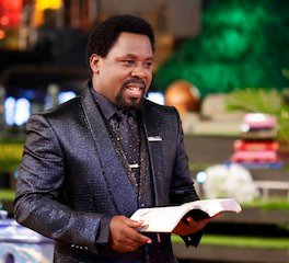T.B. Joshua, photo source: FB page of TB Joshua Ministries