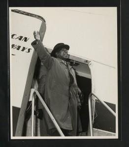 The first president of independent Malawi, Dr. Hastings Kamuzu Banda