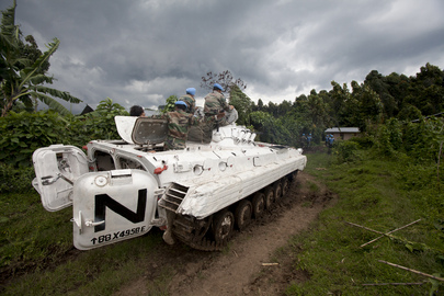UN soldiers launched first attacks on the advancing M23 rebels, Copyright: UN Photo by Sylvain Liechti