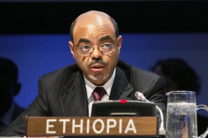 Ethiopia|s head of state since 1991: Meles Zenawi, Copyright: UN Photo by JC McIlwaine