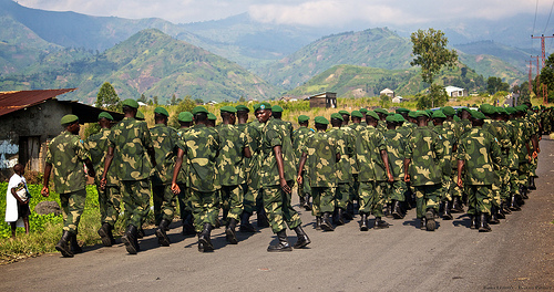 Soldiers of the FARDC in North Kivu, DRC, Copyright: Sasha Lezhnev/Enough Project