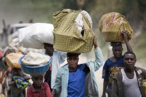 Villagers flee their homes as in the 1990s and cause problems in the areas they seek refuge, Copyright: UN Photo by Sylvain Liechti