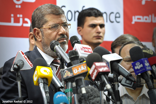 President Mursi's latest declaration has sparked fears of regress in Egypt's democratization process. © Jonathan Rashad