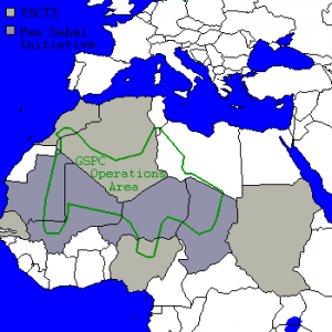 GSPC Area of Operations and Pan-Sahel Initiative nations. © Orthuberra