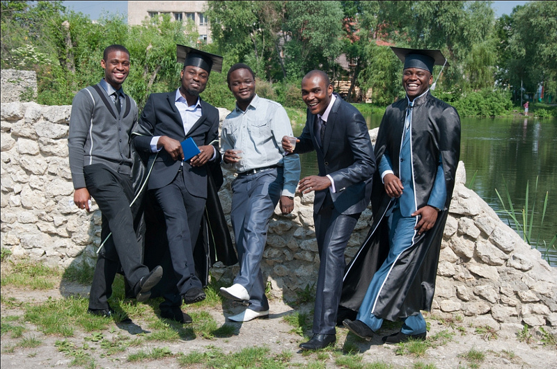 With his graduation in pharamacy at the Ternopil State Medical University in Ukraine Nigerian pop star Mayor Boss is just one prominent example of expatriate students. ©  Naijamayor.com