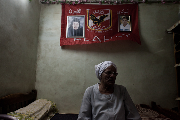 The father of Ahlawy Ultra Yousef. Yousef was killed in Port Said last year. © Ben Kilb