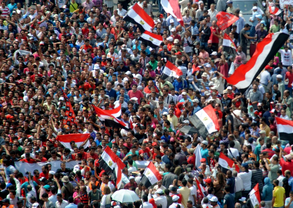 Ultras Ahlawy auf dem Tahrir Platz © Lilian Wagdy