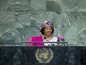Malawi's current President Joyce Banda is set under pressure by the recent events, © UN Photo/J Carrier