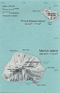 Map of the Prince Edward Islands (South Africa) in the southern Indian Ocean, © Wikimedia Commons
