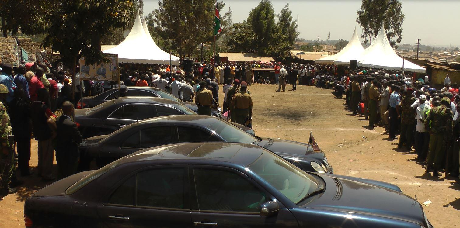The Police Commissioner attends a public security meeting at Kamukunji grounds Kibera on the 2nd March 2013, © Map Kibera