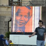 Man in front of the City Hall in Cape Town