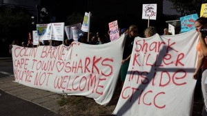 Loud protest outside the Convention Centre in Cape Town, © Monique Creamer/Source: FB Sea Shepherd South Africa