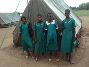 Children are still going to school despite being displaced (Photo by Deogracias Benjamin Kalima)