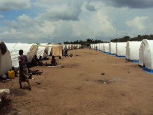 Emergency tents at Mchenga Displacement Camp (Photo by Deogracias Benjamin Kalima)