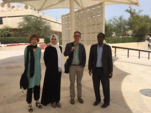 At Qatar University, with Dr Afyare Abdi Elmi (on the right) of the College of Arts & Sciences, © African Studies Centre Leiden (ASC)