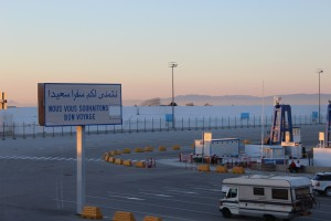 Der Hafen Tangers. 35 MInuten bis nach Tarifa für 37 Euro mit dem Katamaran.